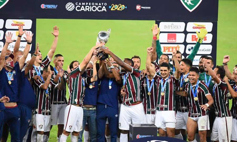 Fluminense segura rival Flamengo e é campeão da Taça Rio ...